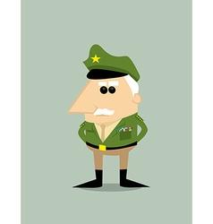 Cartoon military general vector image