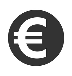 Euro sign Symbol of currency finance business and vector image
