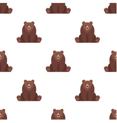 flat style seamless pattern with bear vector image vector image