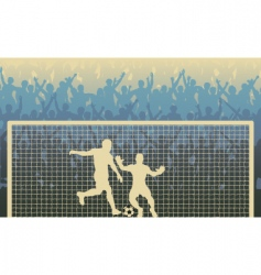 penalty kick vector image vector image