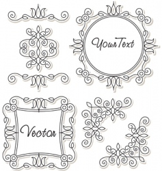 vintage frames and ornaments vector image vector image