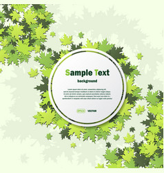white frame with green leaves vector image vector image