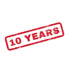 10 Years Text Rubber Stamp vector