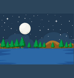 a simple water scene vector image