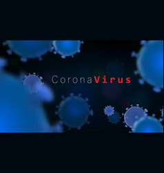 abstract 3d coronavirus background virus covid19 vector image