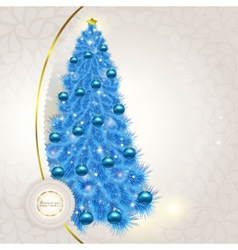 Abstract lace background with Christmas fancy blue vector