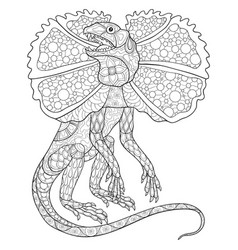 adult coloring bookpage a cute lizard image for vector
