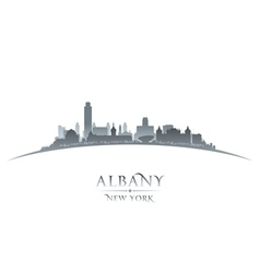 Albany New York city skyline silhouette vector image