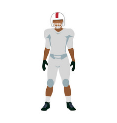 American football player in white black uniform vector