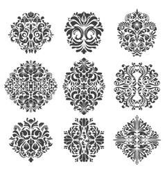 Baroque elements vector image