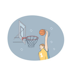Basketball player sport team competition concept vector