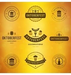 Beer festival oktoberfest typography labels vector
