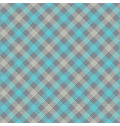 Blue gray check plaid fabric texture seamless vector