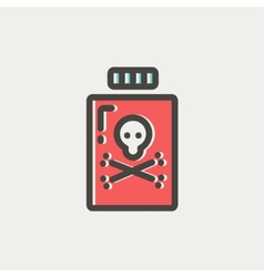 Bottle of poison thin line icon vector image