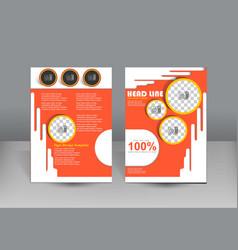 Brochure design orange theme template vector