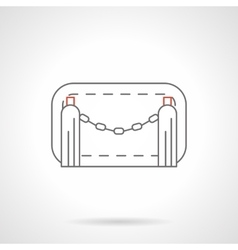 Chain barrier flat line icon vector image