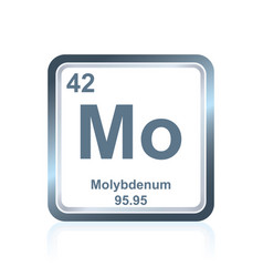 chemical element molybdenum from periodic table vector image