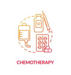Chemotherapy concept icon vector