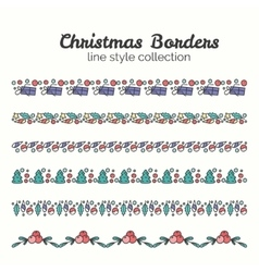 Christmas Borders Set of Christmas Seamless vector