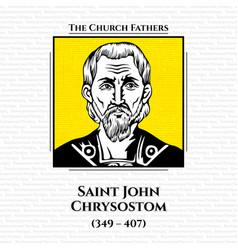 Church fathers saint john chrysostom vector