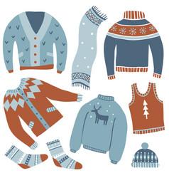 cozy winter set vector image