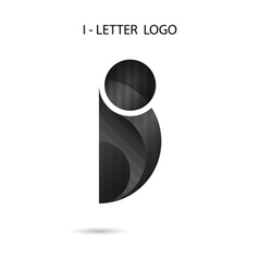 Creative I-letter icon abstract logo design vector image