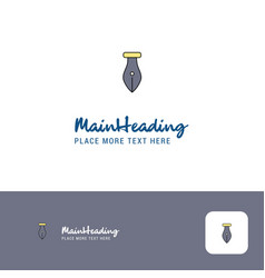 creative pen logo design flat color logo place vector image