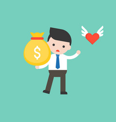Cute businessman in business situation concept vector