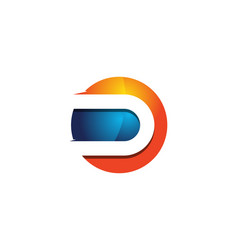 d 3d colorful circle letter logo icon design vector image