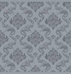 Damask seamless pattern background with vector