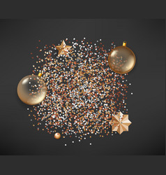 Different christmas elements on dark background vector