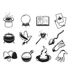 Different symbols of magicians alchemists vector