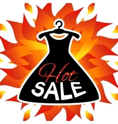 Discount offer with dress vector