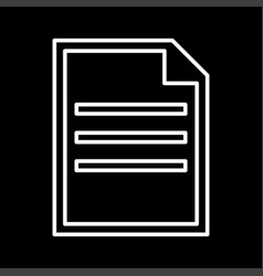 document white color icon vector image