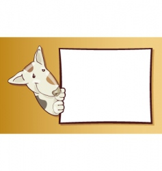dog with card vector image