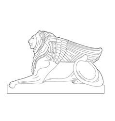 Drawing sphinx vector