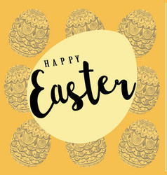 easter pattern background with eggs vector image