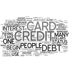 Eliminate credit card debt text background word vector