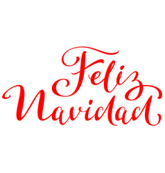 Feliz navidad text translation from spanish merry vector
