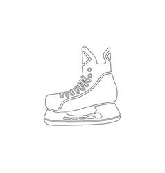 figure skates flat icon vector image