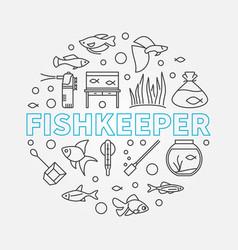 Fishkeeper round modern vector