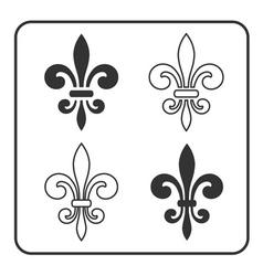 Fleur de Lis symbol set vector image vector image