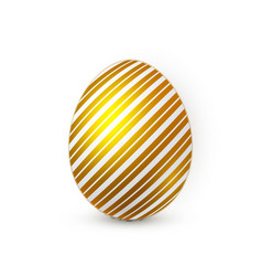 golden easter egg on white background easter egg vector image