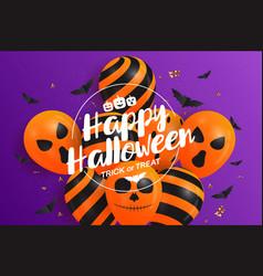 halloween baloon banner vector image