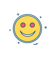 happy emoji icon design vector image