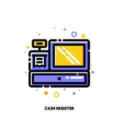 icon cash register for shopping and retail concept vector image