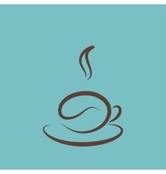 Icon of a coffee cup vector image