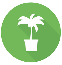 Icon palm trees with a long shadow vector