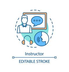 Instructor concept icon vector