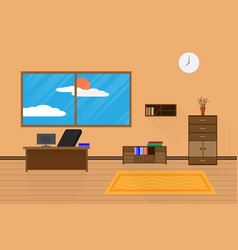 interior office design relax with computer on vector image